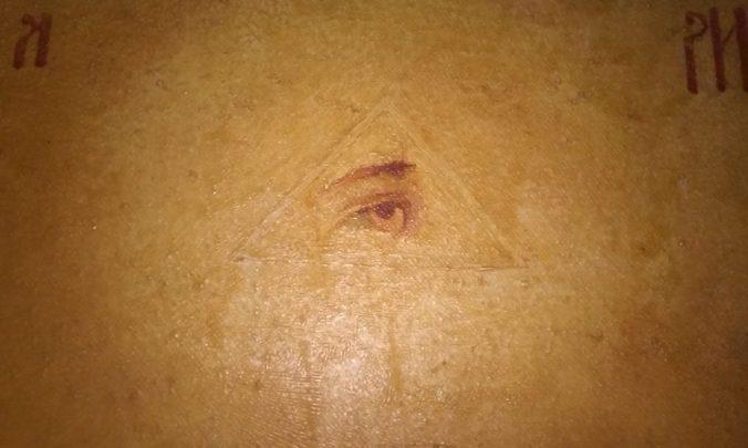 all seeing eye fresco detail ovche pole ovce pole